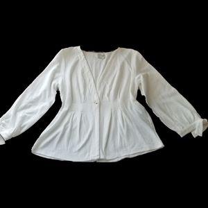 ANTHROPOLOGIE Saturday Sunday White Cardigan XL
